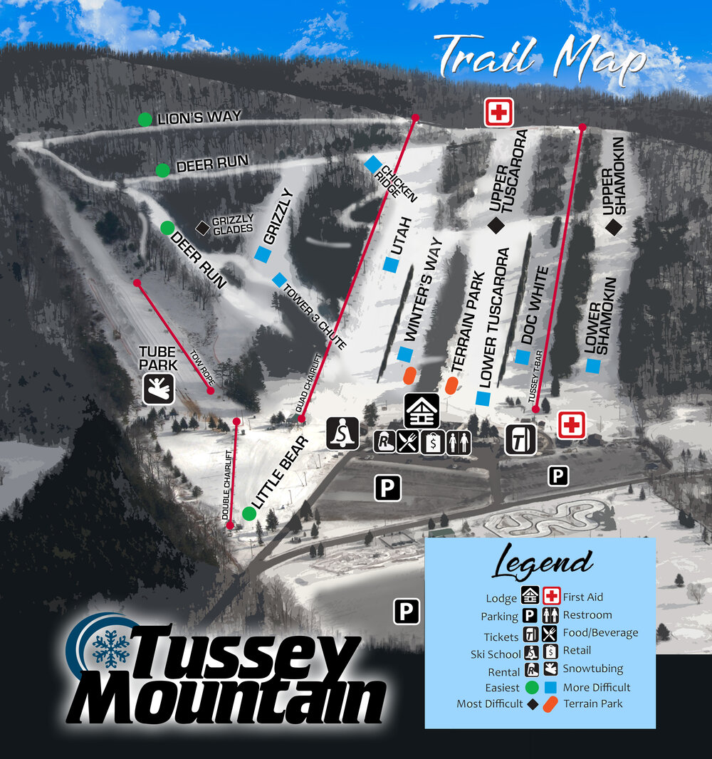 Tussey Mountain Ski & Recreation Trail Map