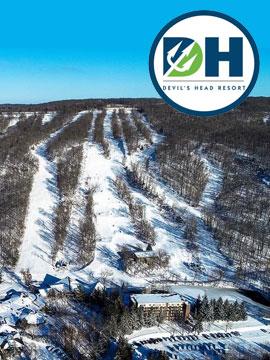 Devil's Head Resort Live Webcam, Snow Reports, Trail Maps, Wisconsin