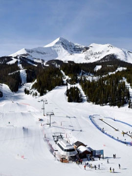 Big Sky Resort Base Live Webcam, Snow Reports, Trail Maps
